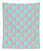 Pink Donuts Tapestry by Little Bunny Sunshine