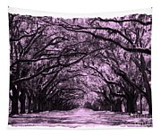 Pink Dream World With White Framing Tapestry