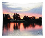 Pink Dusk Reflection Tapestry
