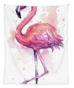 Pink Flamingo Watercolor Tropical Bird Tapestry