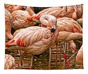 Pink Flamingos Tapestry