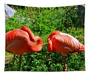 Pink Flamingos Tapestry