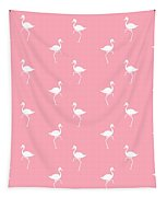Pink Flamingos Pattern Tapestry