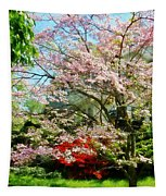Pink Flowering Dogwood Tapestry