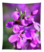 Pink Flowers With Bee . 40d4803 Tapestry