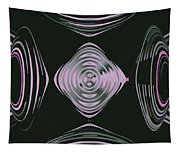Pink Flower Scapeships Tapestry