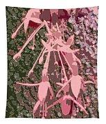 Pink Fuschia Against Tree Bark Tapestry