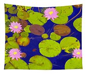Pink Lotus Blossoms Tapestry