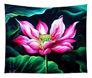 Pink Lotus From L.a. City Park Tapestry