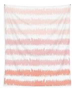 Pink Ombre Ikat Stripe- Art By Linda Woods Tapestry by Linda Woods