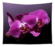 Pink Orchid Flowers Tapestry