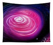 Pink Planet With Diffusing Atmosphere Tapestry