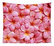 Pink Plumeria Tapestry