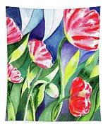 Pink Poppies Batik Style Tapestry