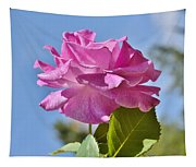 Pink Rose Against Blue Sky I Tapestry