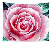 Pink Rose Flower Tapestry