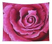 Pink Rose Pastel Painting Tapestry