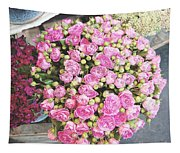 Pink Roses Photograph Tapestry