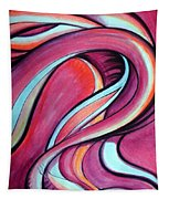 Pink Wave Of Energy. Abstract Vision Tapestry