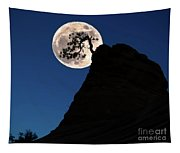 Pinon Pine And Moon Zion National Park  Tapestry