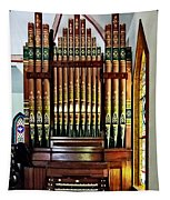 Pipe Organ In Church Tapestry