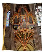 Pipe Organ In Strasbourg Cathedral Tapestry