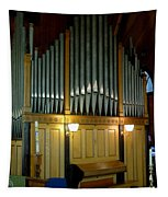 Pipe Organ Of Old Tapestry