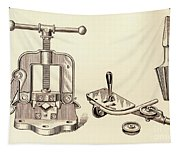 Pipe Vise Tapestry