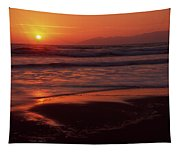 Pismo Beach Sunset Tapestry