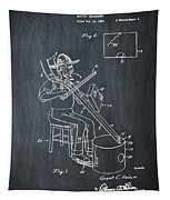Pitch Fork Fiddle And Drum Patent 1936 - Chalk Tapestry