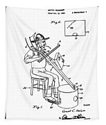 Pitch Fork Fiddle And Drum Patent 1936 - White Tapestry