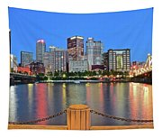 Pittsburgh At Waters Edge Tapestry