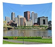 Pittsburgh From Just Outside Pnc Park Tapestry