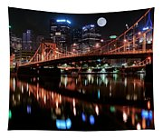 Pittsburgh Full Moon Tapestry