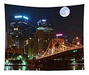Pittsburgh Full Moon Panoramic Tapestry