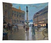 Place De L Opera In Paris Tapestry