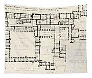 Plan Of Principal Floor Of Hampton Tapestry