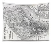 Plan Of The City Of New York Tapestry