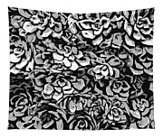 Plants Of Black And White Tapestry