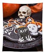 Plate Of Halloween Sugar Cookies Tapestry