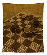 Playing Checkers On A Rug Tapestry