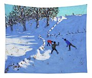 Playing In The Snow Youlgrave, Derbyshire Tapestry