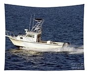 Pleasure Fishing Boat Tapestry