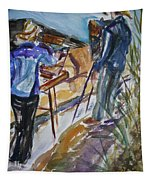 Plein Air Painters - Original Watercolor Tapestry