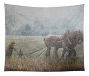 Plowing It The Old Way Tapestry