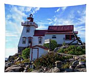 Pointe Au Baril Lighthouse Tapestry