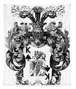 Poker King Spades Black And White Tapestry