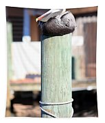 Pole Top Pelican Tapestry