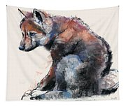 Polish Wolf Pup Tapestry
