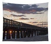 Pompano Beach Fishing Pier At Sunrise Florida Tapestry